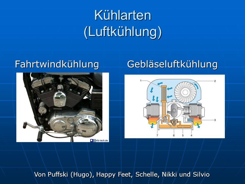 Kühlarten (Luftkühlung) FahrtwindkühlungGebläseluftkühlung Von Puffski (Hugo), Happy Feet, Schelle, Nikki und Silvio