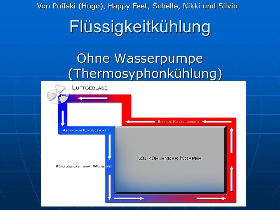 Flüssigkeitkühlung Ohne Wasserpumpe (Thermosyphonkühlung) Von Puffski (Hugo), Happy Feet, Schelle, Nikki und Silvio