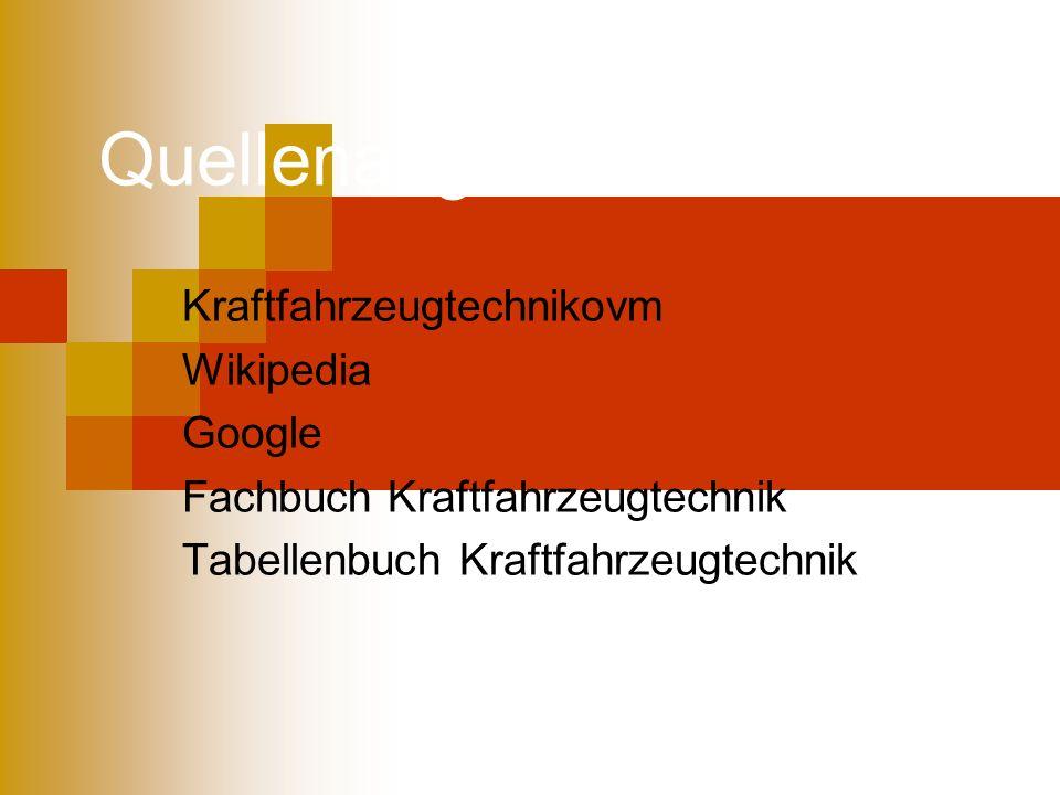 Quellenangaben Kraftfahrzeugtechnikovm Wikipedia Google Fachbuch Kraftfahrzeugtechnik Tabellenbuch Kraftfahrzeugtechnik