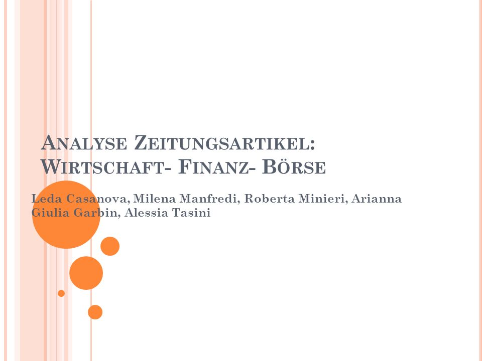 W IRTSCHAFT F INANZ B ÖRSE A RBEITSLOSIGKEIT M IKROKREDIT 22 Texten, Korpus von 751 Wörter
