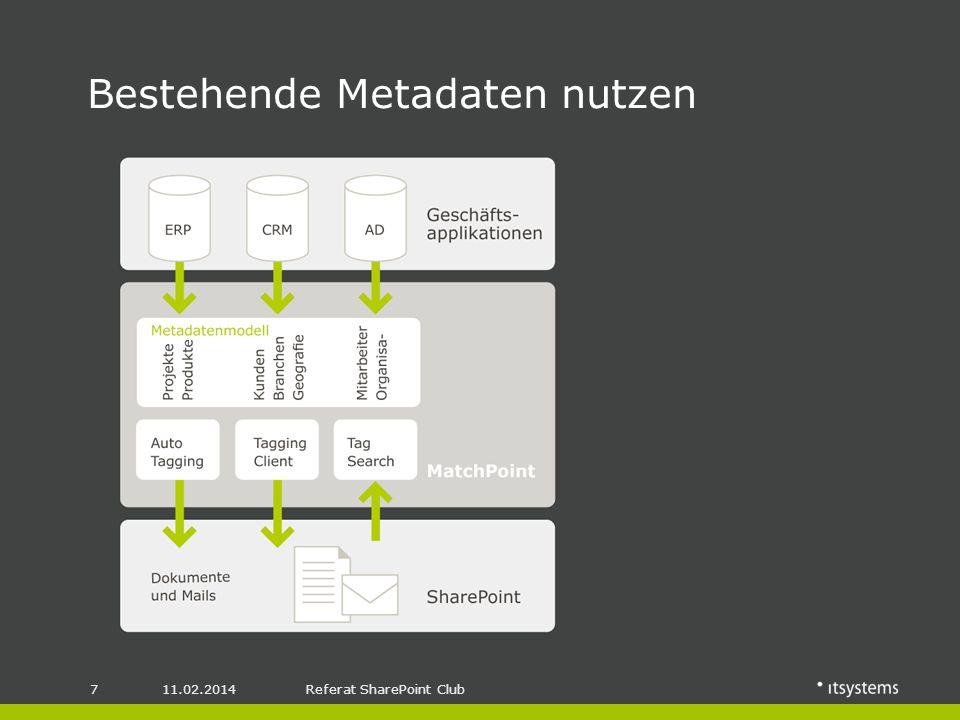 11.02.20148Referat SharePoint Club Metadaten in Prozessen und Workflows