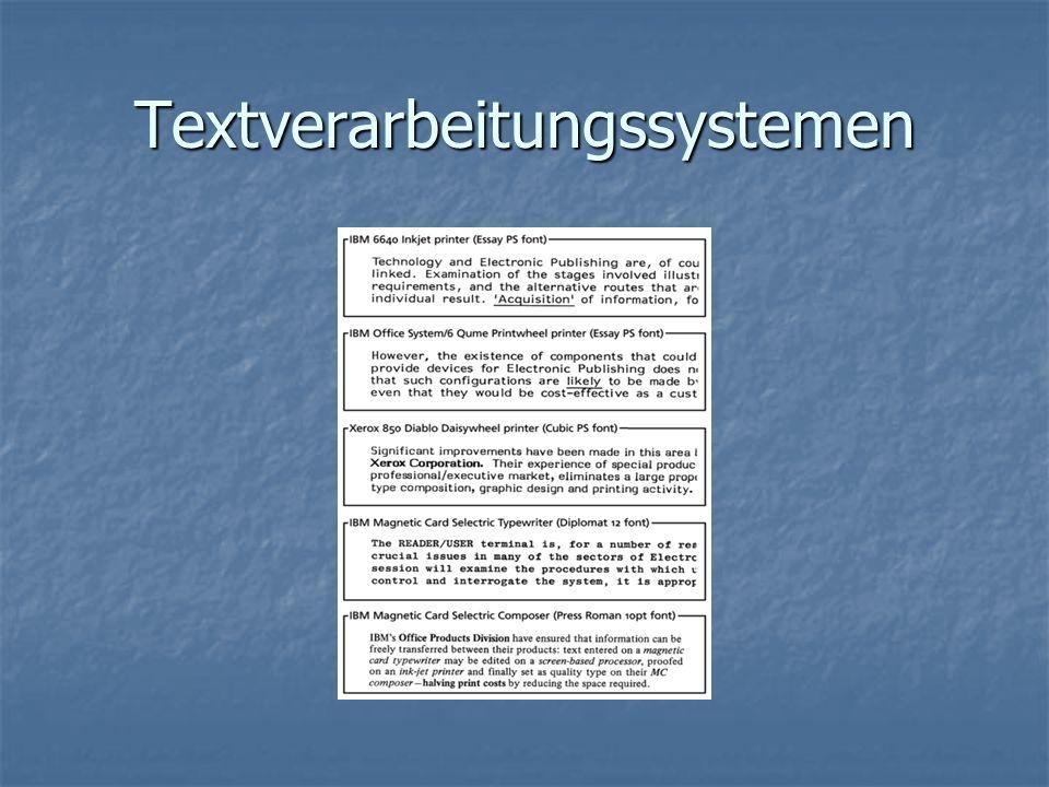 Textverarbeitungssystemen