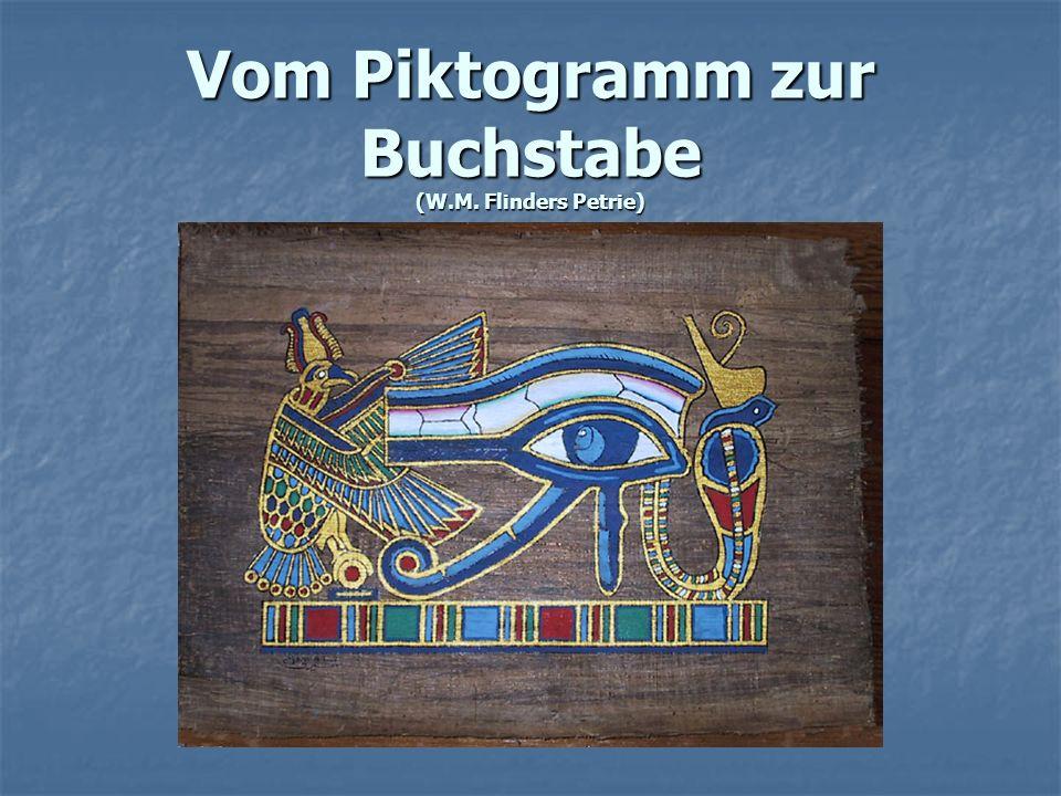 Vom Piktogramm zur Buchstabe (W.M. Flinders Petrie)