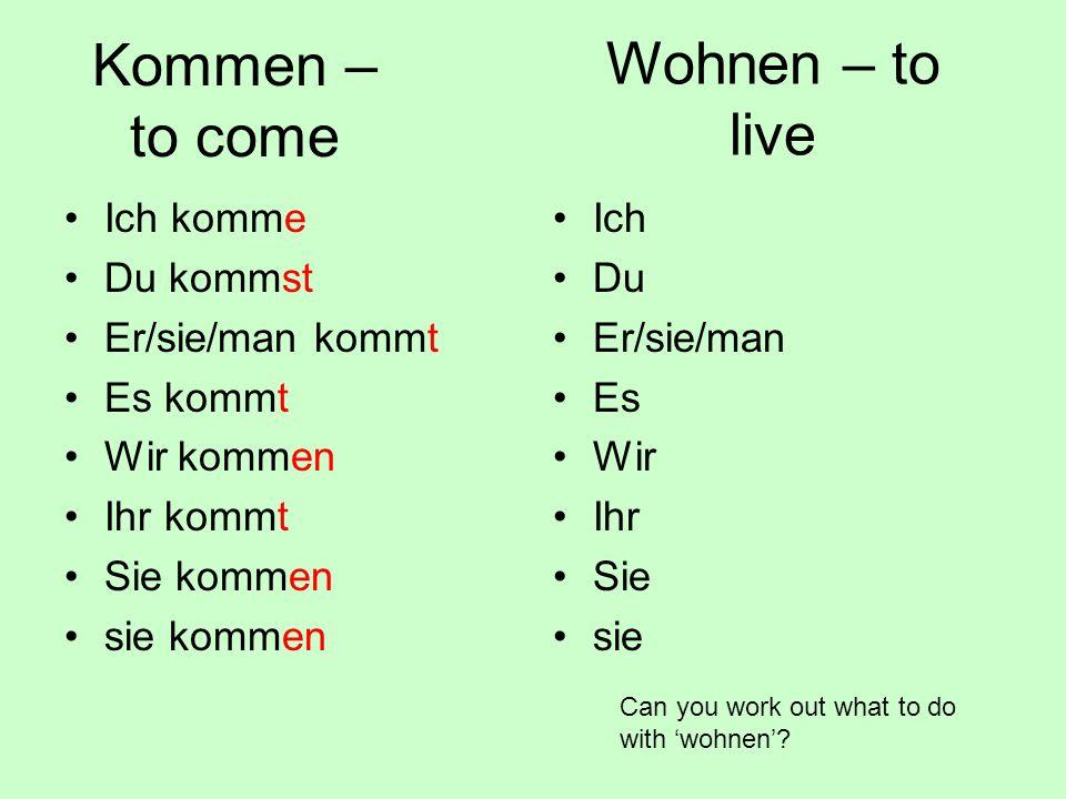 Conjugate the following regular verbs in full.