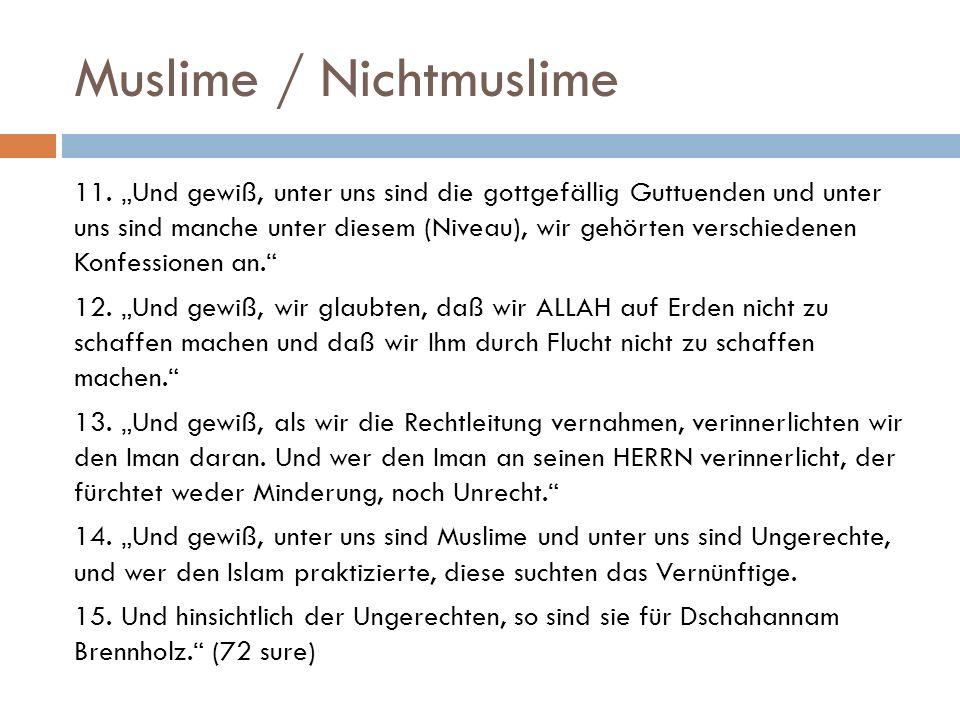 Muslime / Nichtmuslime 11.