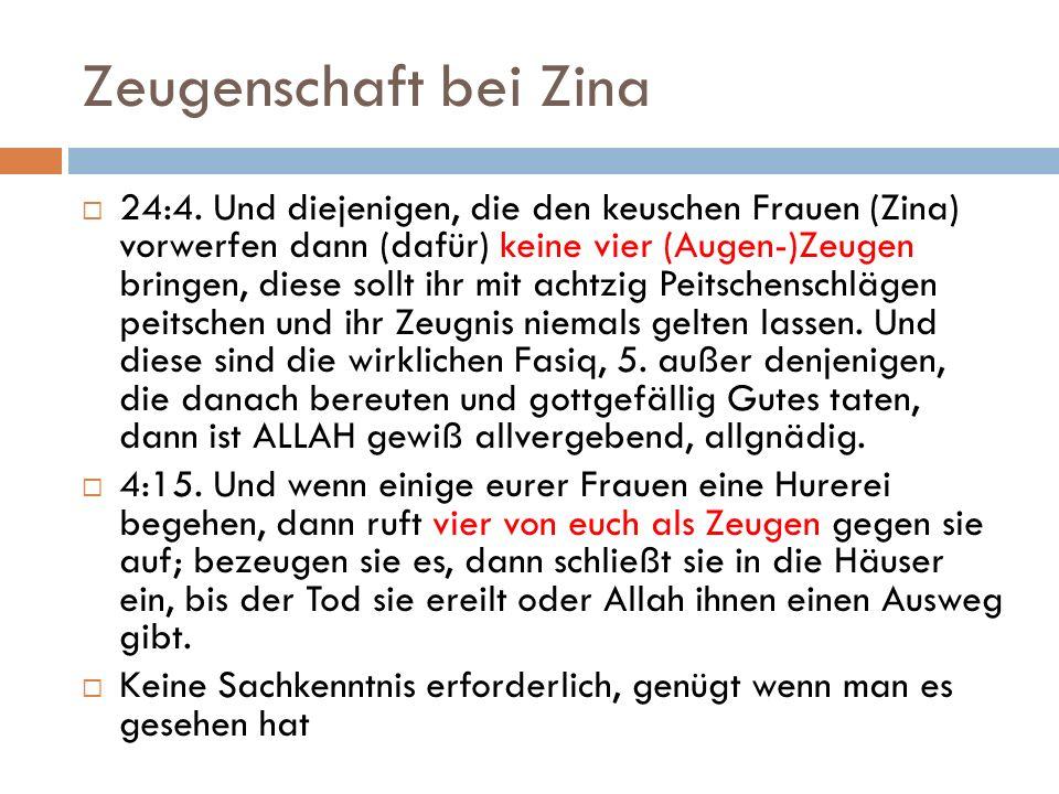 Zeugenschaft bei Zina 24:4.