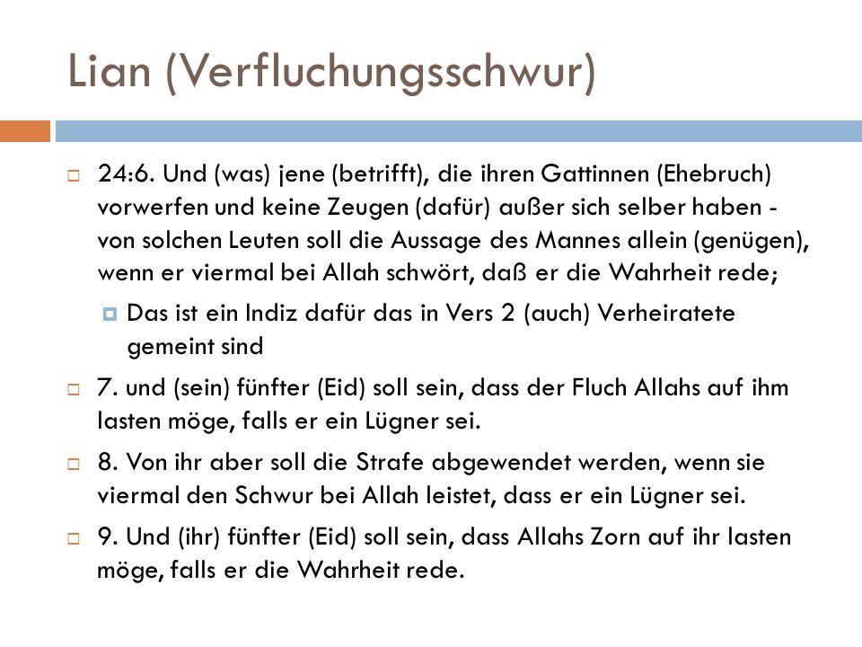Strafe verdoppeln/halbieren 33:30.O Frauen des Propheten.