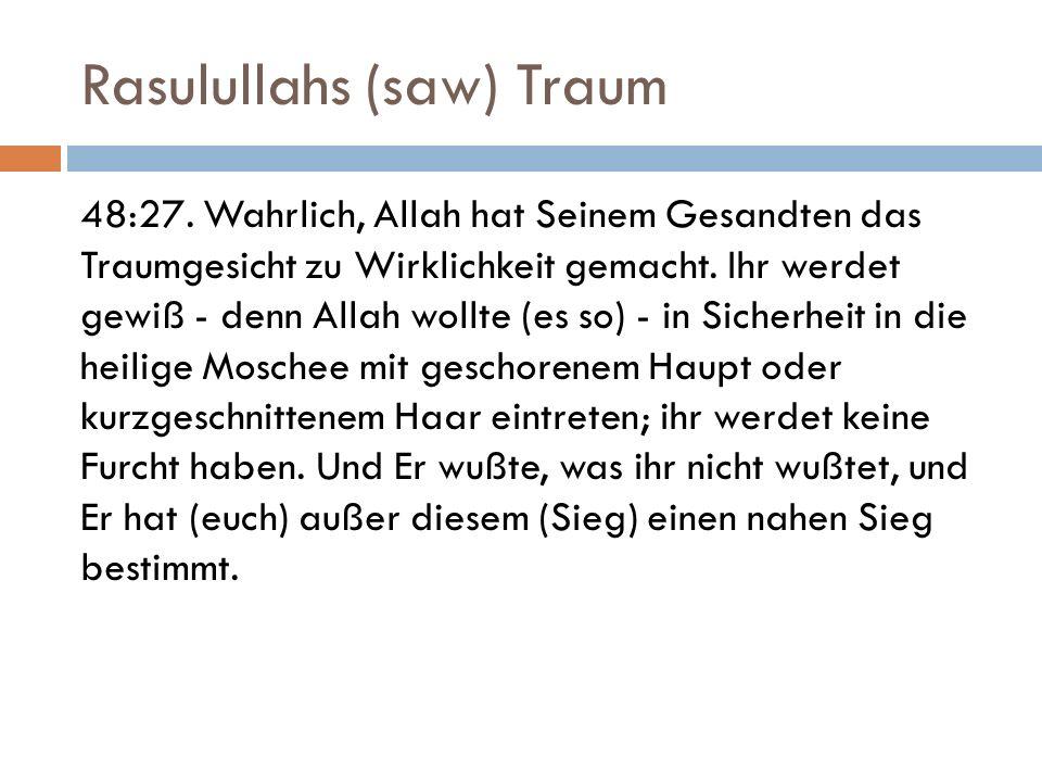Rasulullahs (saw) Traum 48:27.