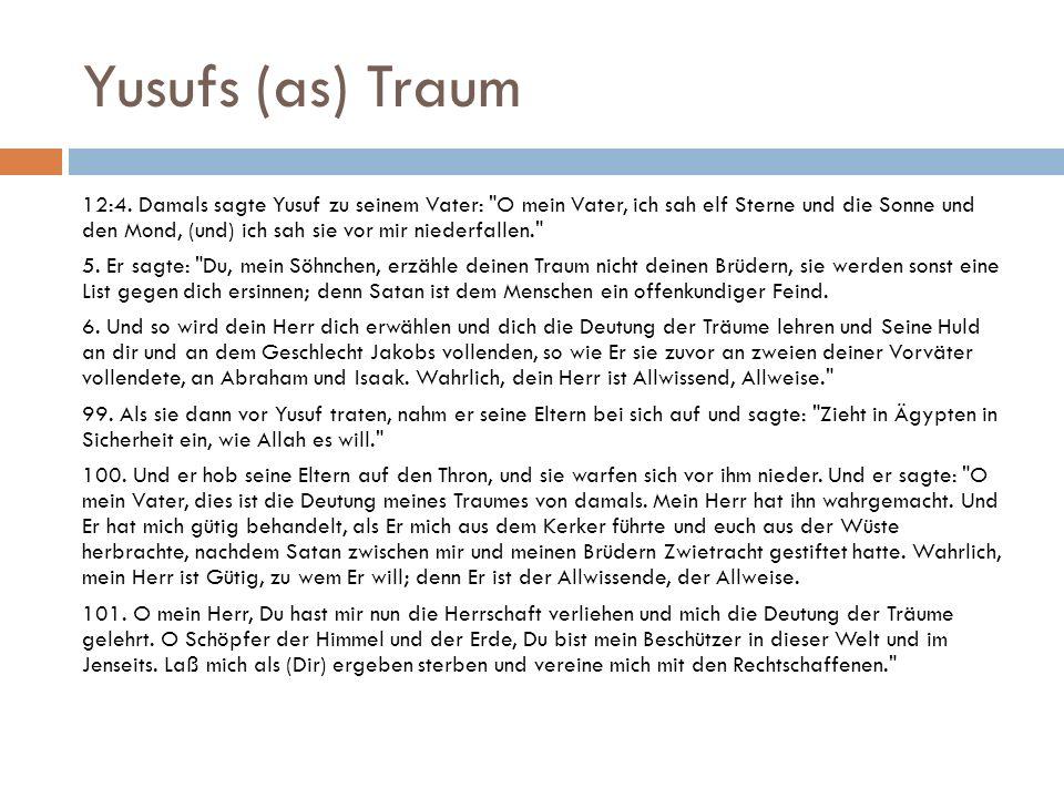 Yusufs (as) Traum 12:4.