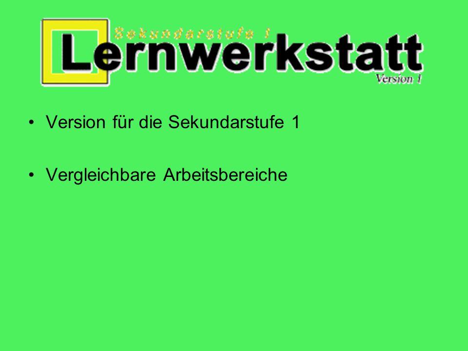 Steckbrief: Lernwerkstatt GS 7 Bereiche: Deutsch, Mathematik, Wissen, Fremdsprachen, Logik Lerngruppe: 1.-4. Klasse Schwerpunkt: Kinder üben in spiele