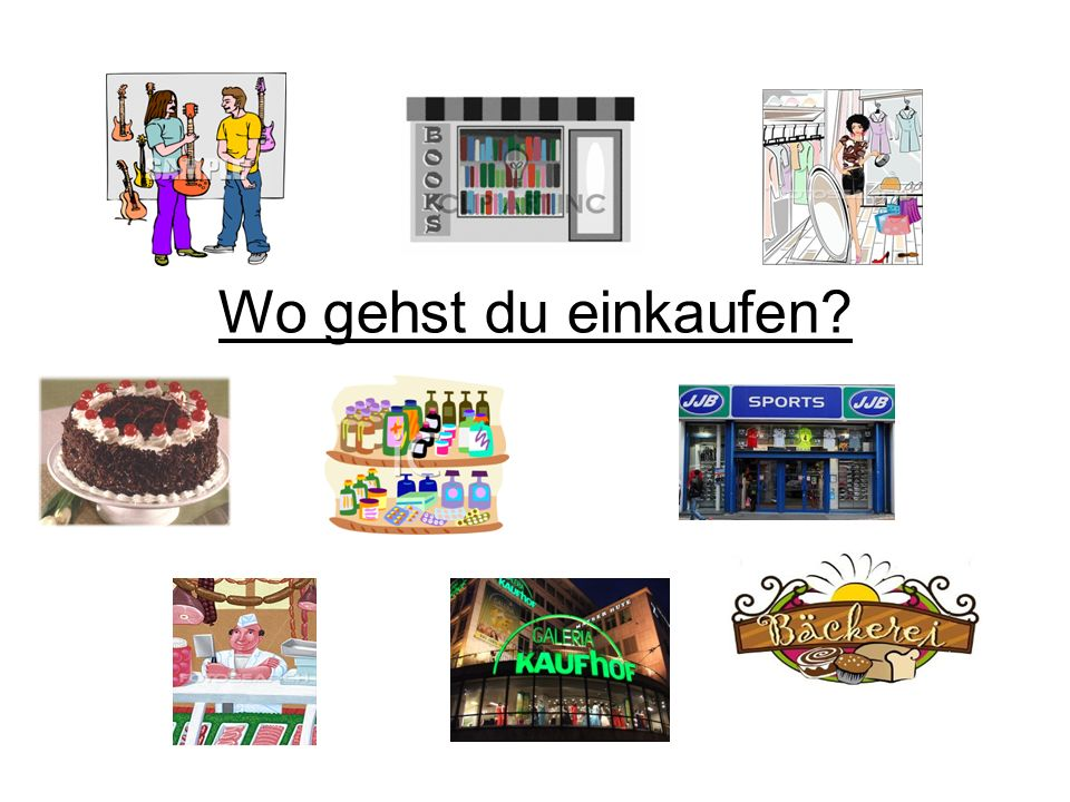 Wo gehst du einkaufen?