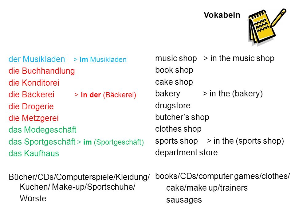 Grammatik In + dative case In is a preposition which takes the dative case when you use it to say where something is: thein the masculineder Musikladenin dem >im Musikladen femininedie Bäckereiin der Bäckerei neuterdas Kaufhausin dem >im Kaufhaus in dem is shortened to im