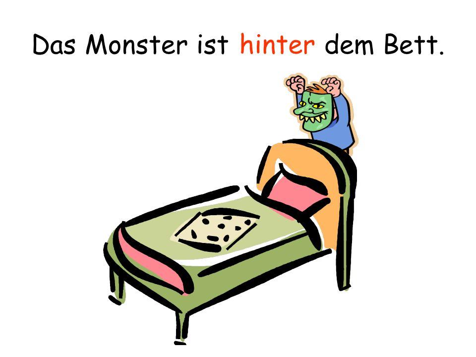 Das Monster ist dem Bett. über