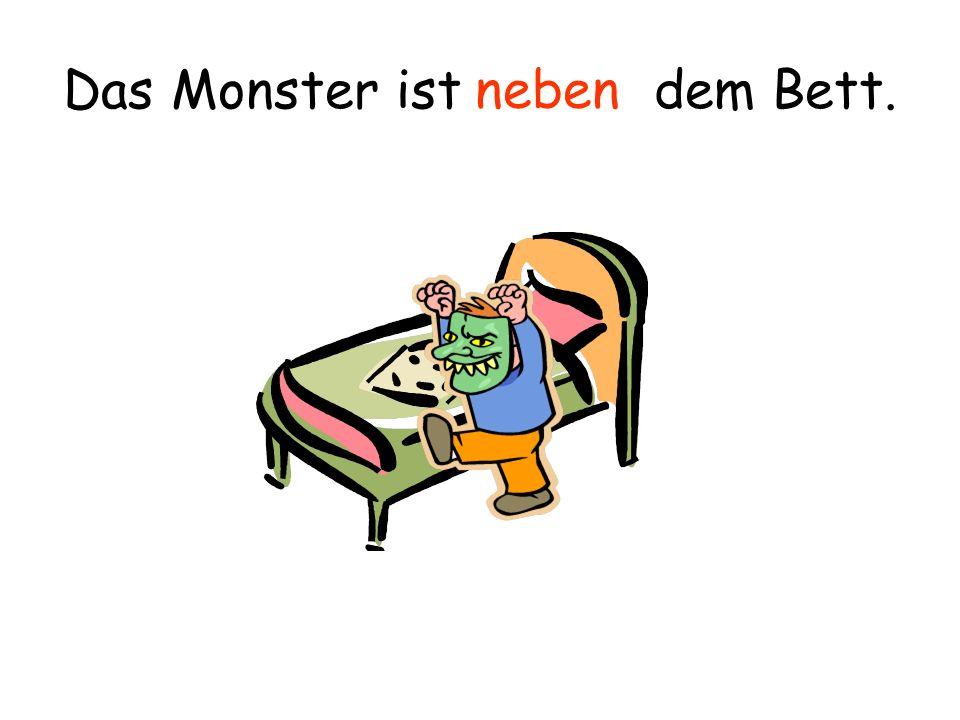 Das Monster ist den Betten. zwischen