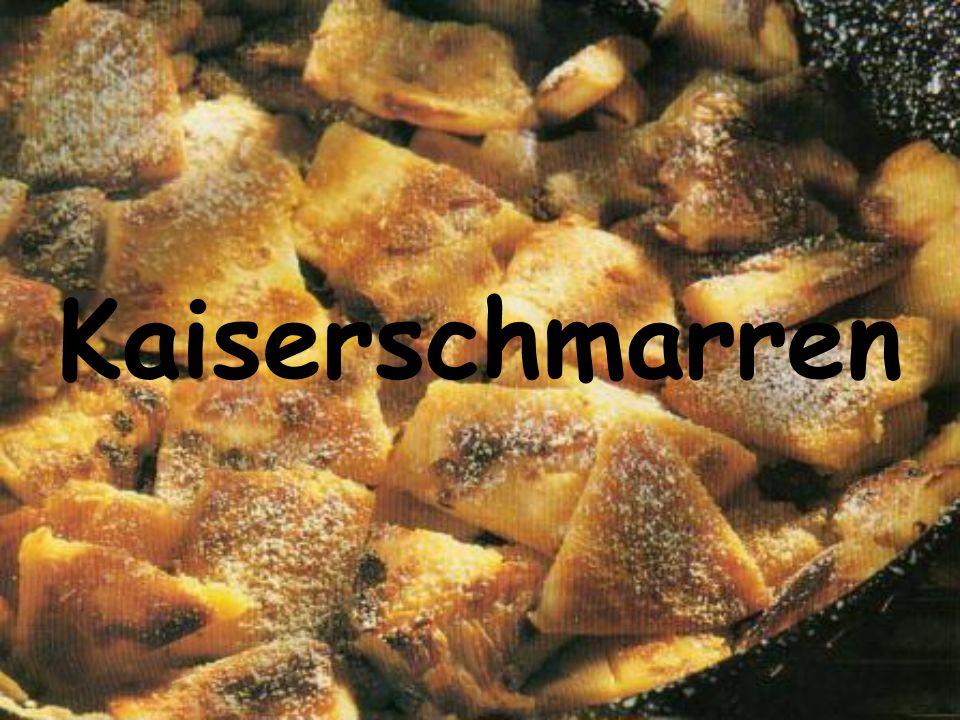 Ich will Kaiserschmarren kochen. Kaiserschmarren ist wie Pfannkuchen.