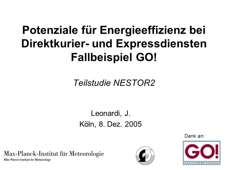 Potenziale für Energieeffizienz bei Direktkurier- und Expressdiensten Fallbeispiel GO.