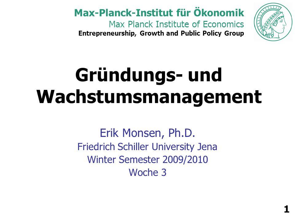 Max Planck Institute of Economics 2 Webseite https://people.econ.mpg.de/mo nsen/gwm0910/ Kennwort: gwmfsuj0910 Passwort: emonsen0910