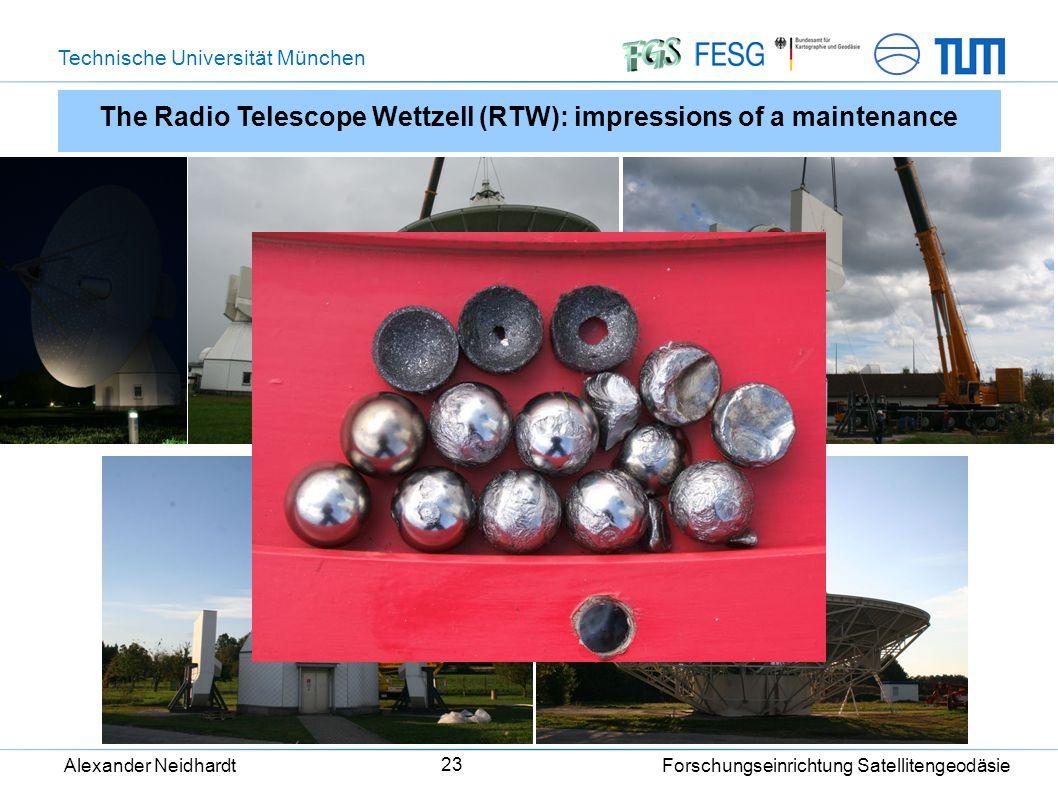 Technische Universität München Alexander Neidhardt Forschungseinrichtung Satellitengeodäsie 23 The Radio Telescope Wettzell (RTW): impressions of a maintenance