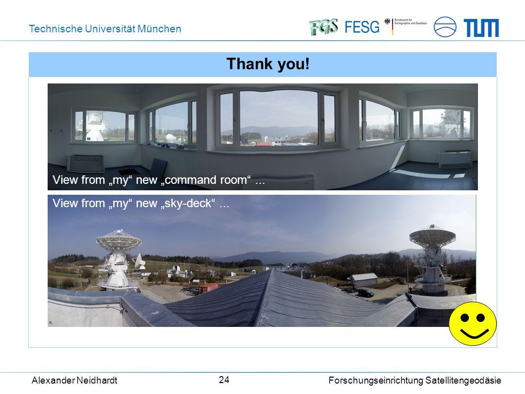 Technische Universität München Alexander Neidhardt Forschungseinrichtung Satellitengeodäsie 24 Thank you.