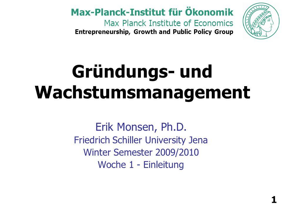 Max Planck Institute of Economics 2 Agenda Vorstellungen Lernzeile Vorgehensweise Quellen & Leseliste Gastredner Evaluation Classroom Logistics