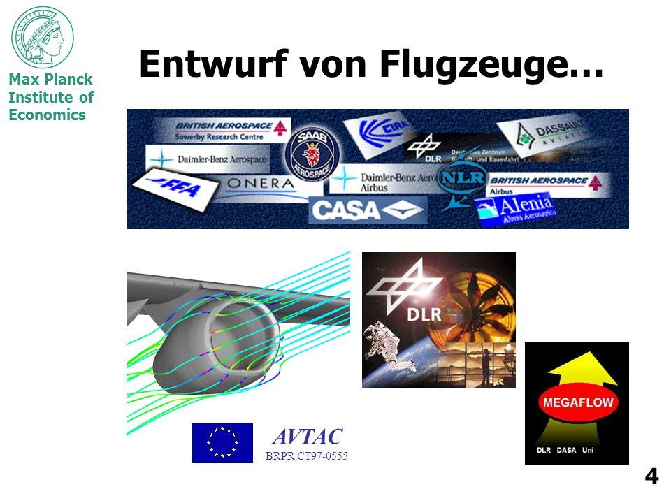 Max Planck Institute of Economics 15 Benotung Mannschaftsprojekt1/3 –4 oder 5 Studenten pro Gruppe –Geschäftsplan, Fallstudie, oder Training-Einheit hohe persönliche bzw.