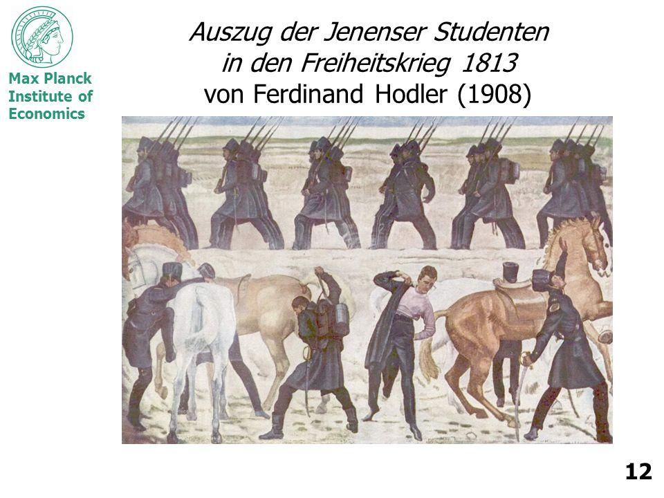 Max Planck Institute of Economics 12 Auszug der Jenenser Studenten in den Freiheitskrieg 1813 von Ferdinand Hodler (1908)