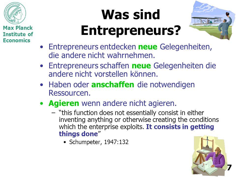 Max Planck Institute of Economics 8 BWL vs.
