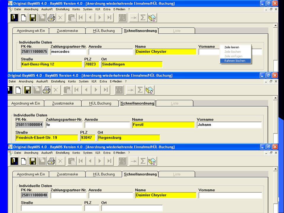c/o Landesamt für Finanzen Regensburg 10 Schnell – Anordnung von wk-Zahlungen: Ebenso ist es jetzt möglich, bei wk-Zahlungen (Einnahmen wie Ausgaben)
