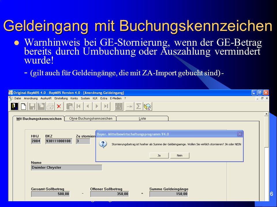 c/o Landesamt für Finanzen Regensburg 15 Lastschrifteinzug bei einmaligen Sollstellungen: (nach erfolgter Anpassung durch die Leitstelle KABU – wird d