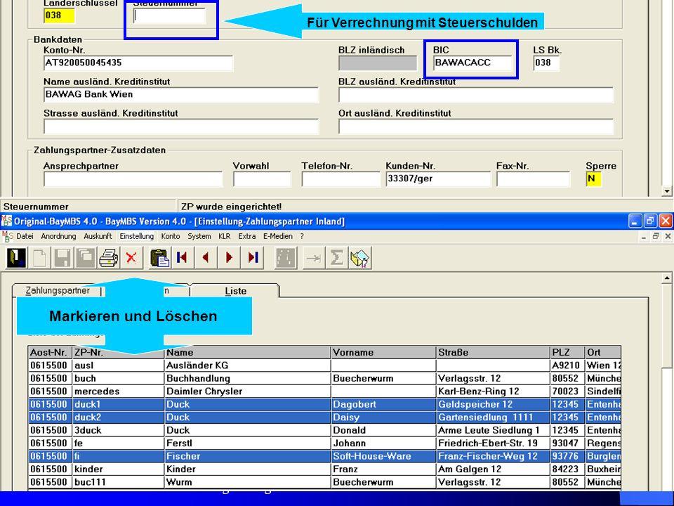 c/o Landesamt für Finanzen Regensburg 29 Einstellungen: Feldvorbelegung: Für folgende Felder ist nun auch eine Vorbelegung möglich: für SB – Übernahme
