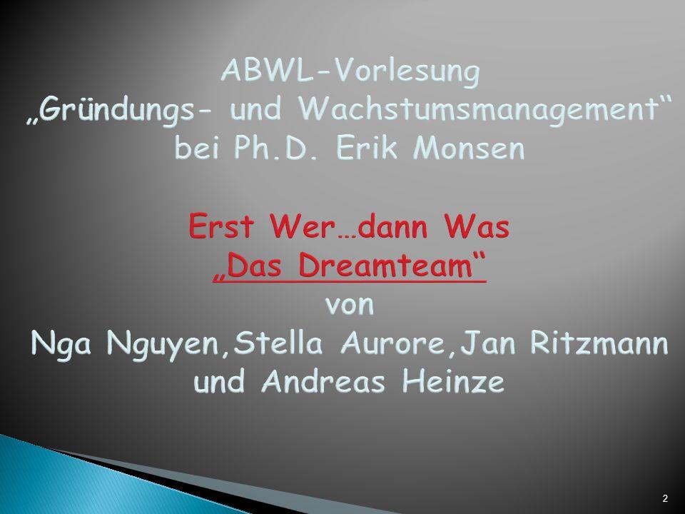 2 ABWL-Vorlesung Gründungs- und Wachstumsmanagement bei Ph.D.