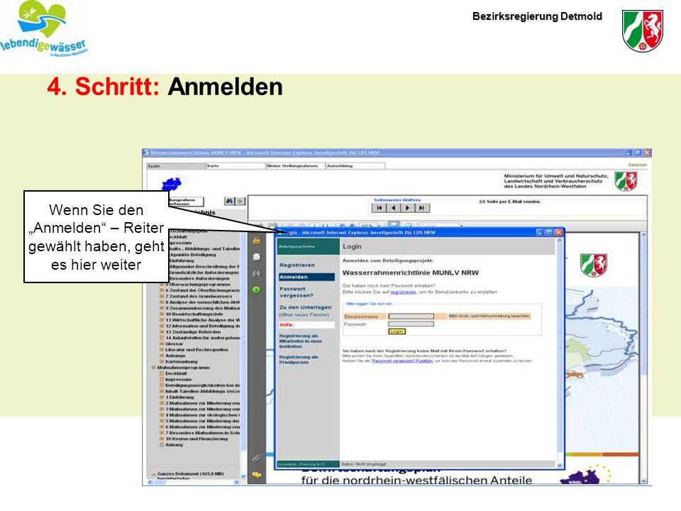 Bezirksregierung Detmold Registrierung Formular Wenn Sie noch kein Passwort haben, erscheint zunächst das Formular zur Registrierung.