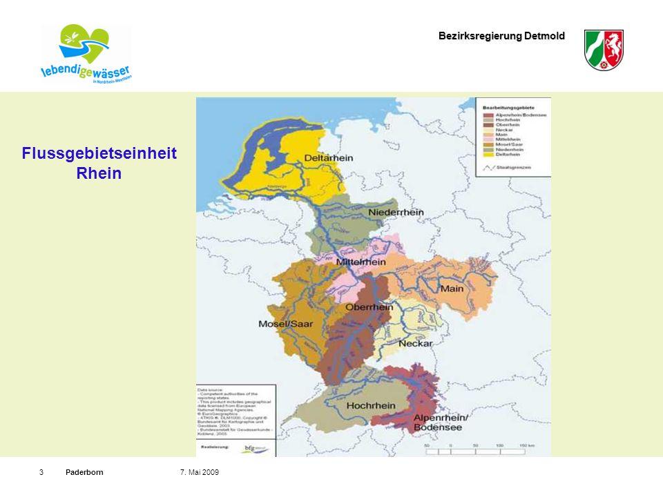 Bezirksregierung Detmold Paderborn37. Mai 2009 Flussgebietseinheit Rhein