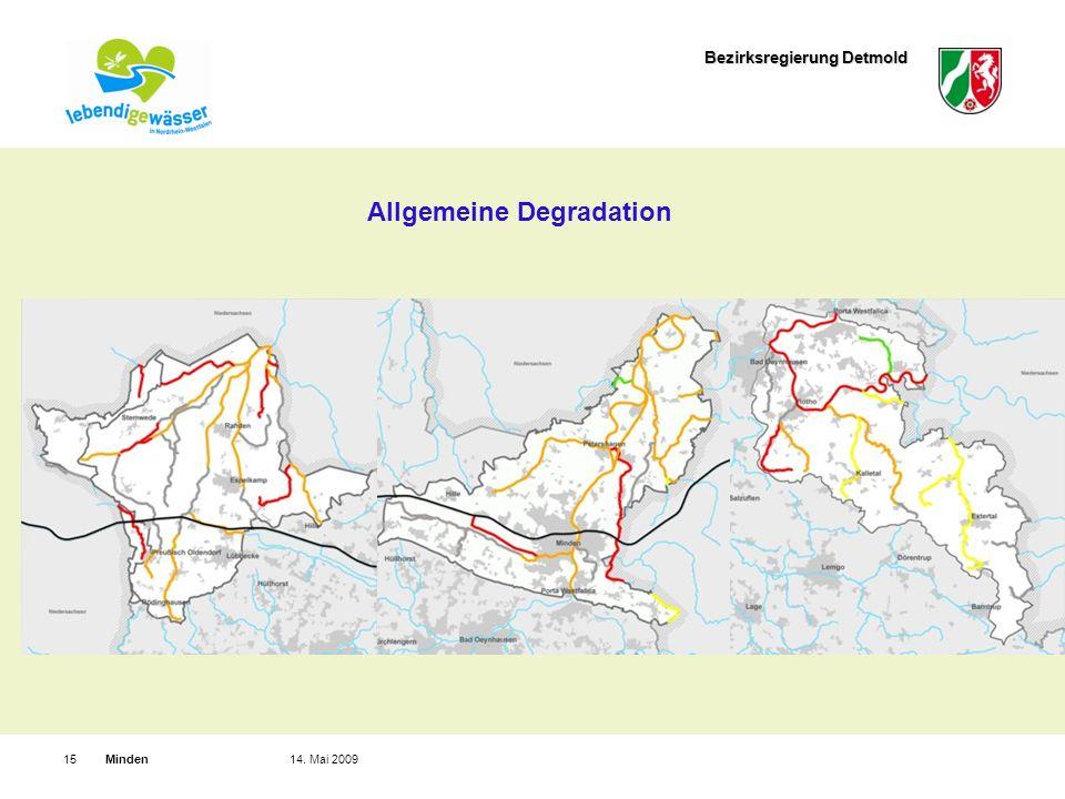 Bezirksregierung Detmold Minden1514. Mai 2009 Allgemeine Degradation