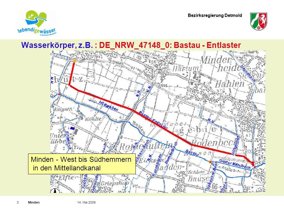 Bezirksregierung Detmold Minden314. Mai 2009 Wasserkörper, z.B.