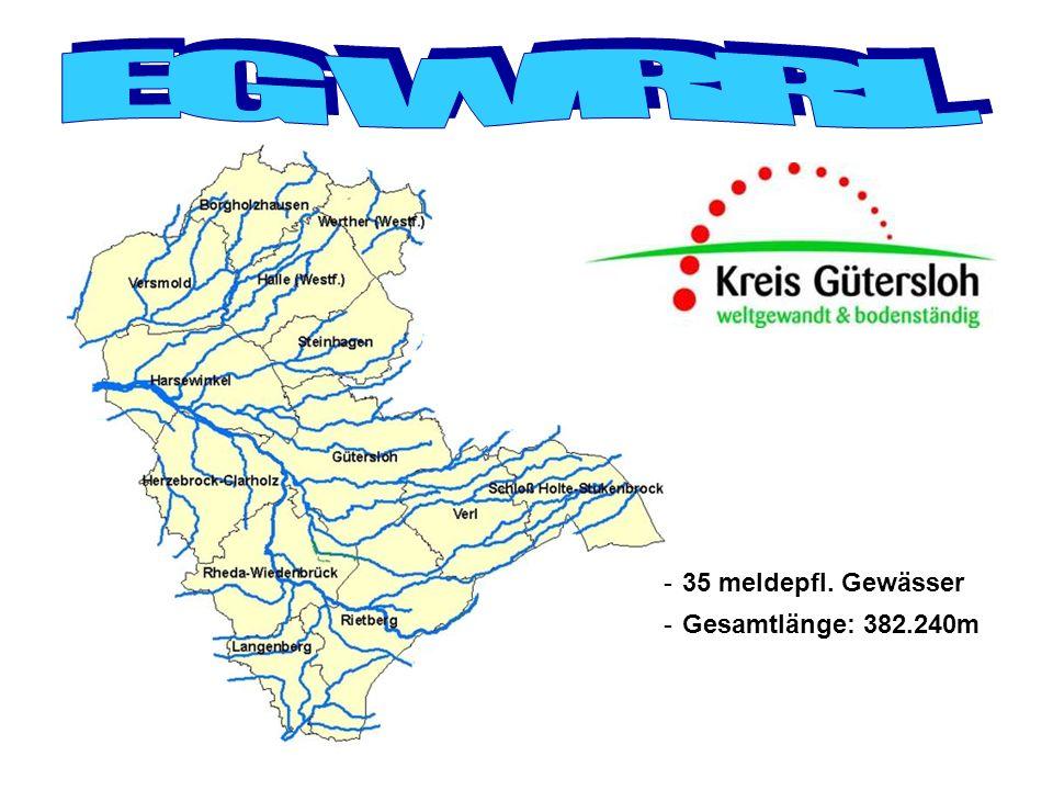 Herstellung der Durchgängigkeit Beispiel Ems Umflut Stau Krane