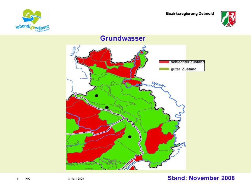Bezirksregierung Detmold IHK113. Juni 2009 Grundwasser Stand: November 2008