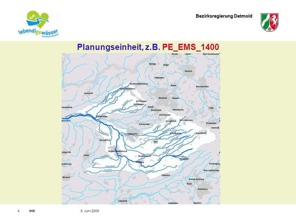 Bezirksregierung Detmold IHK43. Juni 2009 Planungseinheit, z.B. PE_EMS_1400