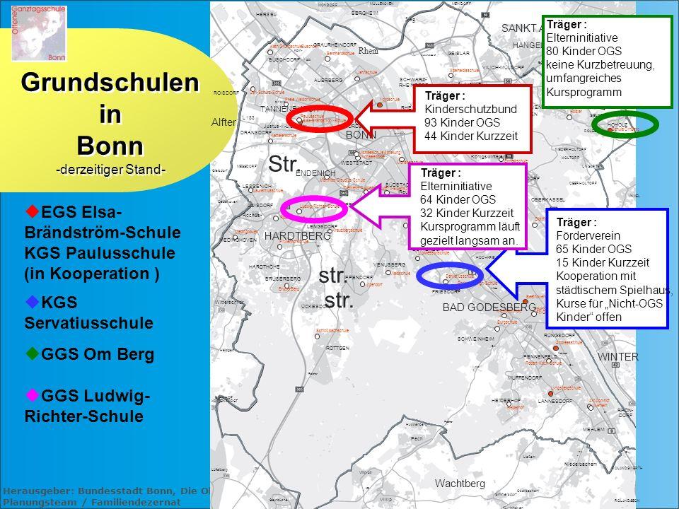 Herausgeber: Bundesstadt Bonn, Die Oberbürgermeisterin Planungsteam / Familiendezernat RÖMLINGHOVEN Gielsdorf Oedekoven MESSDORF Heidgen ROLANDSWERTH