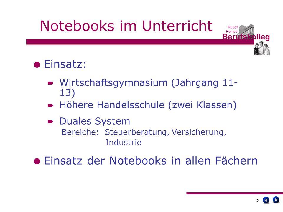 16 Offene Fragen Notebook-Einsatz in Klausuren/im Zentralabitur.