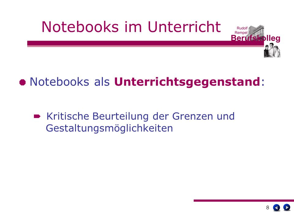 9 Notebooks im Unterricht Erfahrungen mit dem Notebookeinsatz: Dokumentieren Recherchieren Präsentieren Kommunizieren