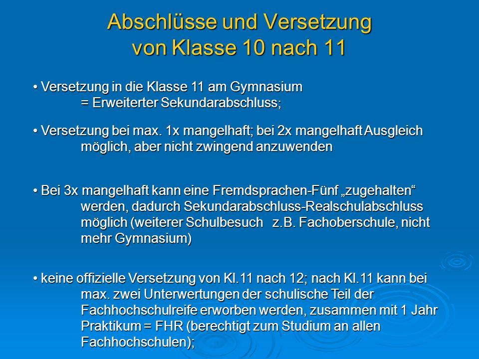 Die Einführungsphase der Sekundarstufe 2 (Klasse 10) Allgemeine Bemerkungen und Informationen über die Fächerwahl (Pflicht- bzw.