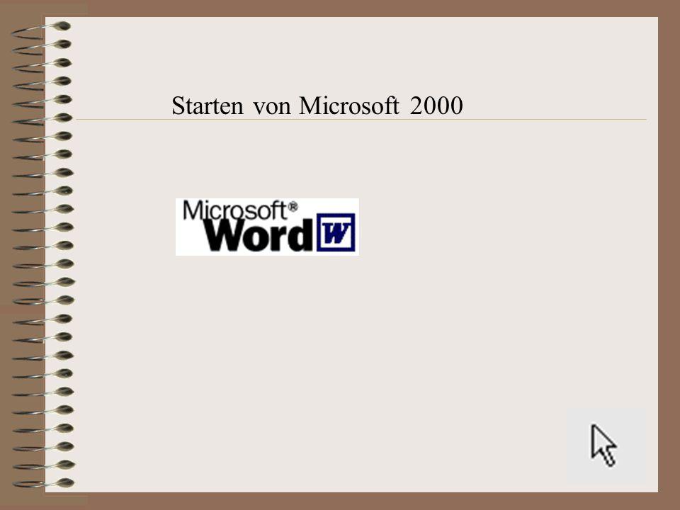 Starten von Microsoft 2000