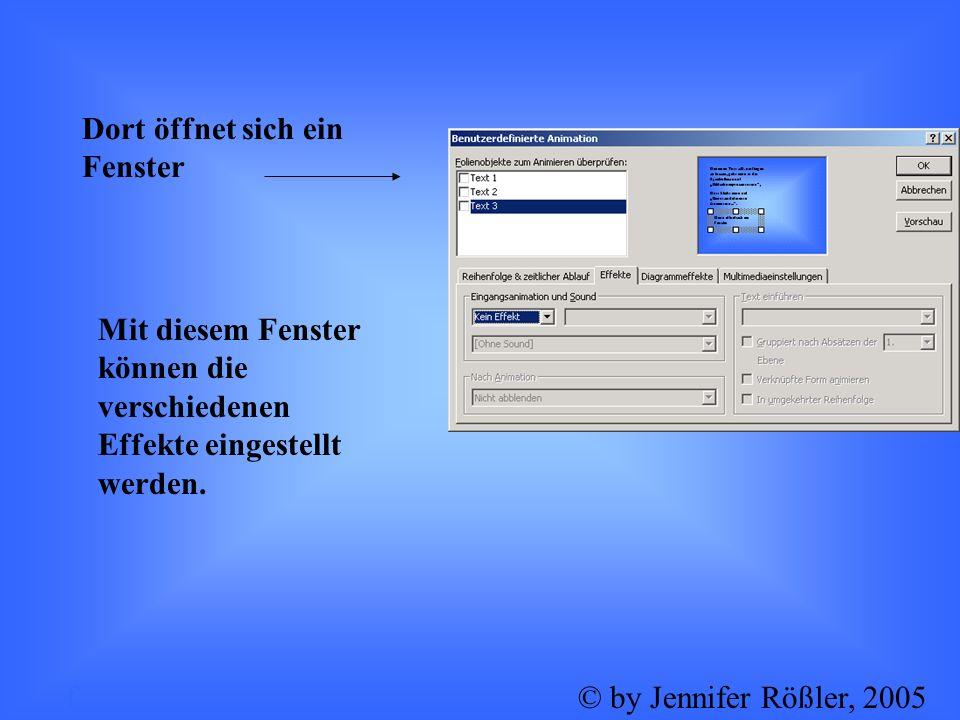 Wie kann man seinen Folienübergang sinnvoll gestalten? k© by Jennifer Rößler, 2005