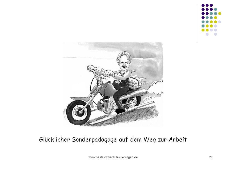 www.pestalozzischule-tuebingen.de20 Glücklicher Sonderpädagoge auf dem Weg zur Arbeit
