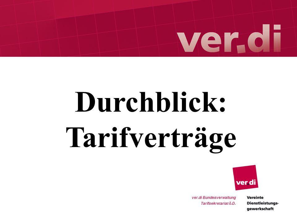 1 ver.di Bundesverwaltung Tarifsekretariat ö.D. Durchblick: Tarifverträge