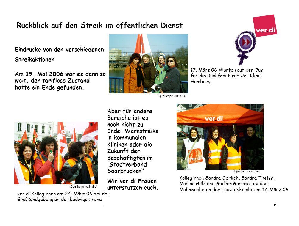 Rückblick auf den Streik im öffentlichen Dienst Quelle: privat: GU 17. März 06 Warten auf den Bus für die Rückfahrt zur Uni-Klinik Homburg Quelle: pri