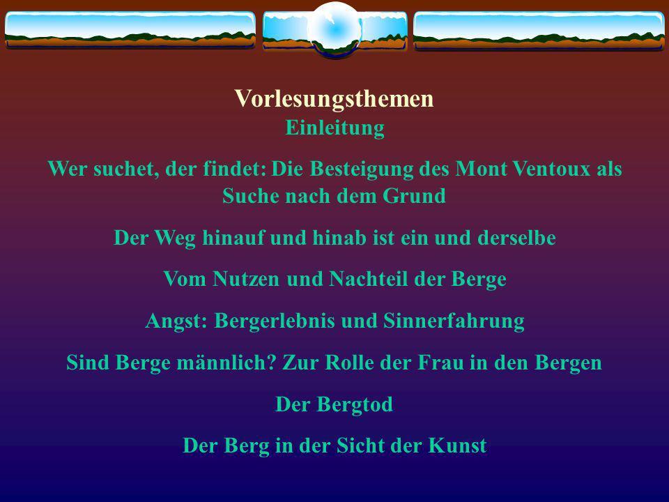 Grenzgänge - Bergsteigen als Philosophie Prof. Dr. Heimo Hofmeister