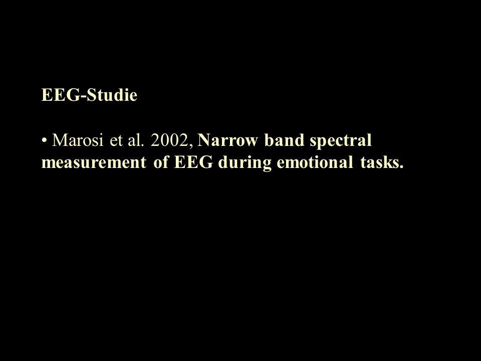EEG-Studie Marosi et al. 2002, Narrow band spectral measurement of EEG during emotional tasks.