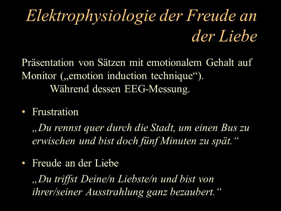 Elektrophysiologie der Freude an der Liebe Frustration Liebe Filterung nach Frequenzanteilen, Marosi et al.